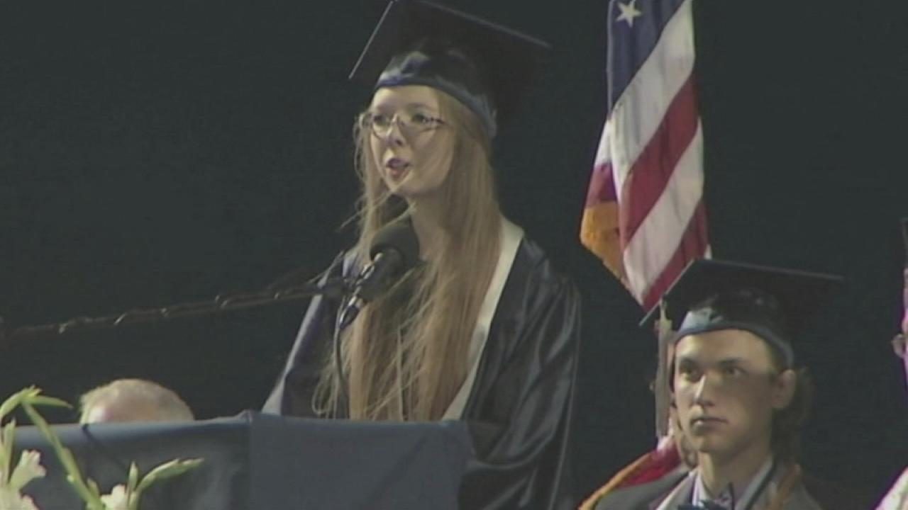 Crash survivor shares inspiring story at graduation