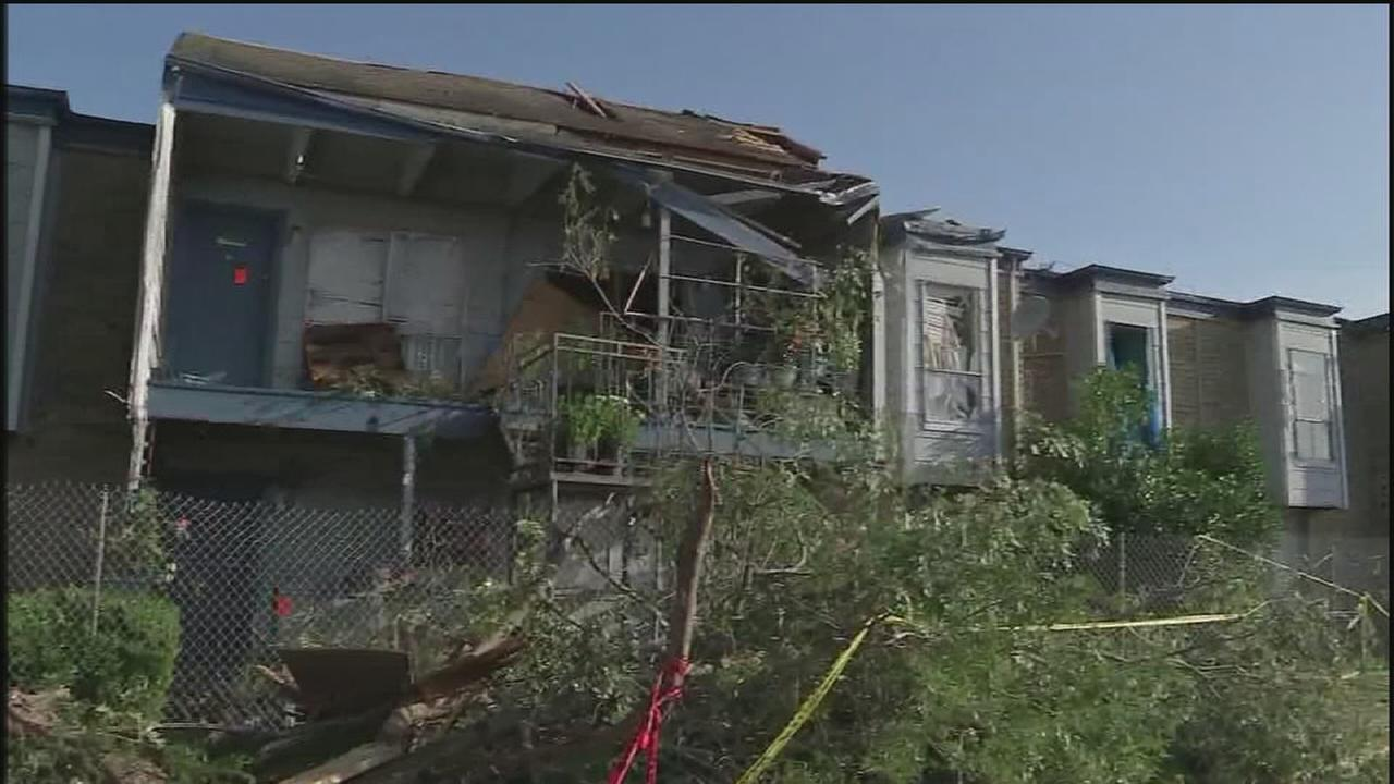 Families work to pick up the pieces after tornado
