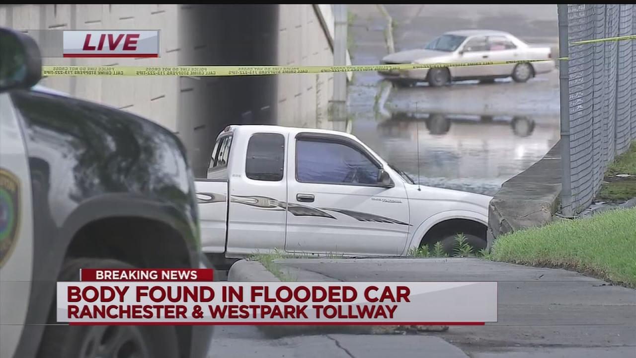 Body found in flooded car