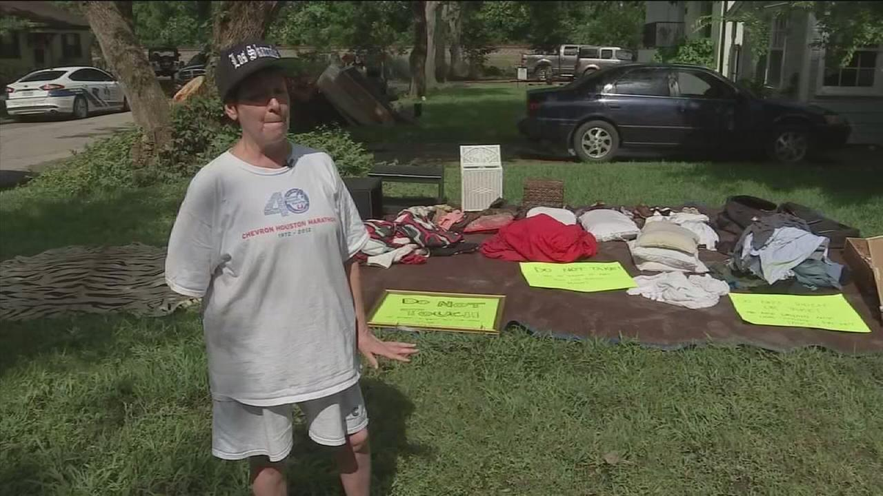 Strangers step up to help woman who fell victim to flood, crime