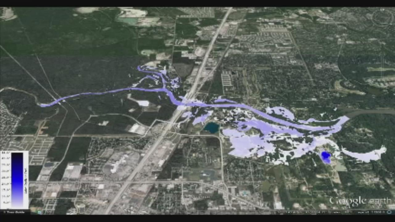 Houstonarea flood maps How your area is affected  abc13com