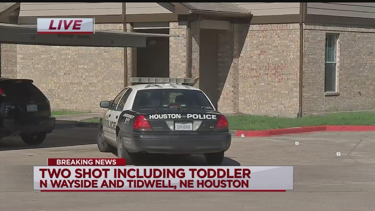 Toddler shot in arm in northeast Houston