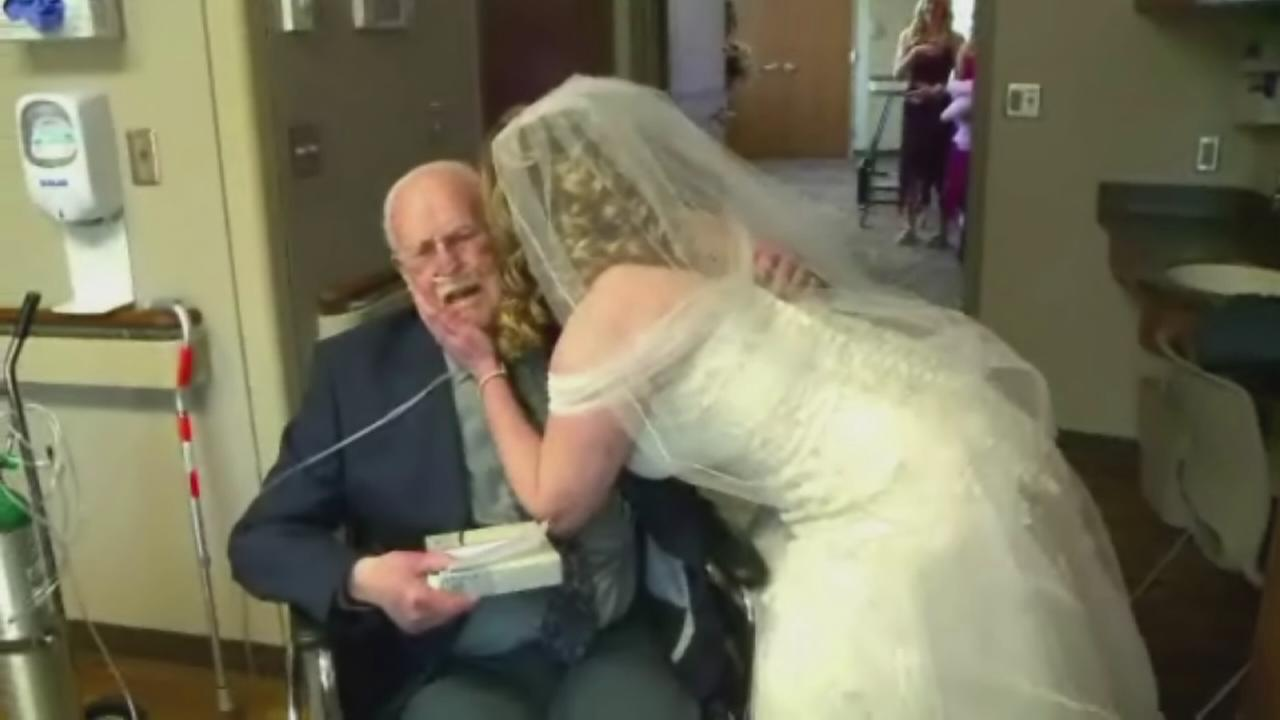 Hospital puts on wedding so dying man can be there