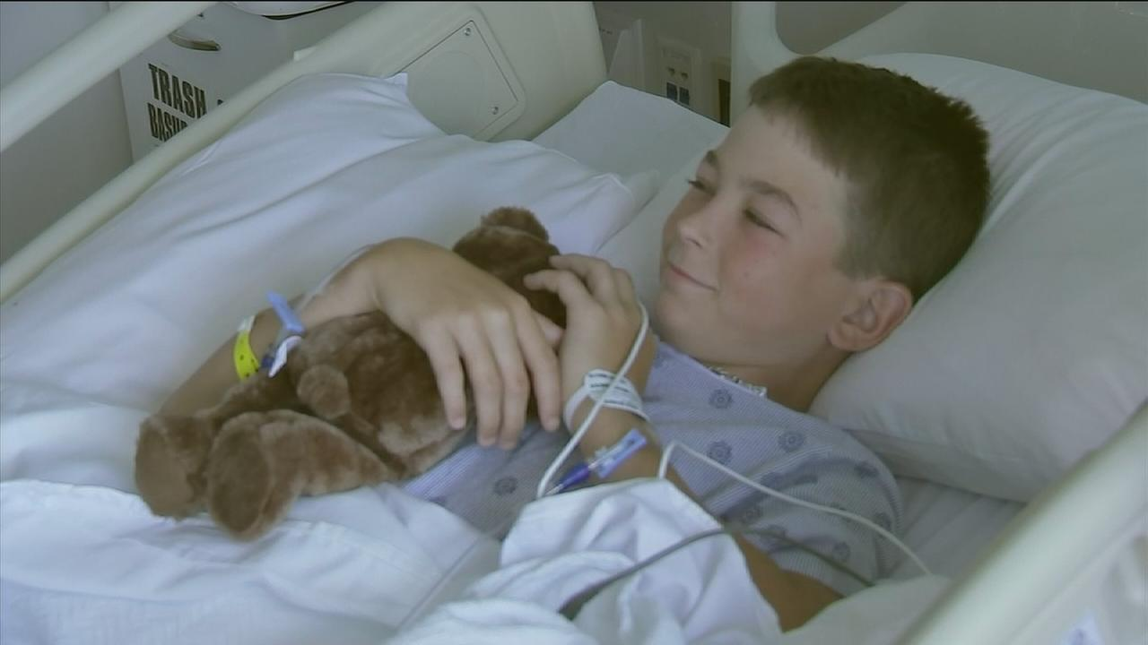 Teddy bears handed out to sick children