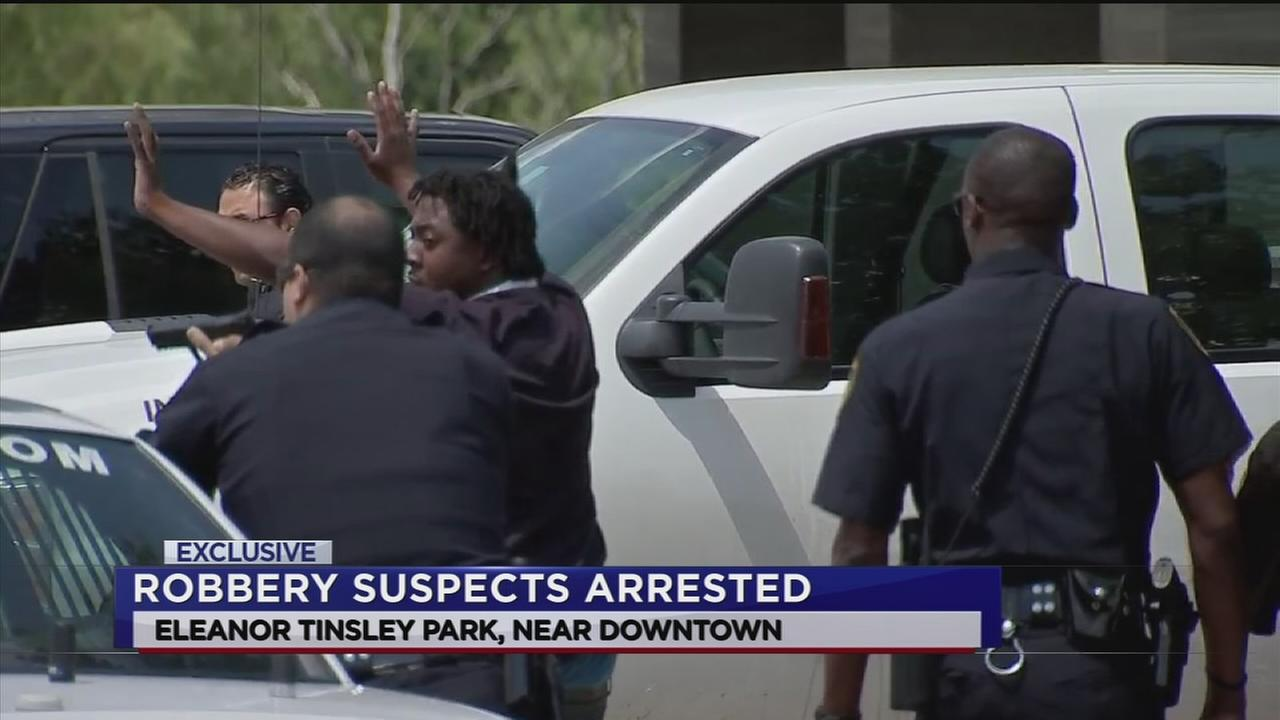 Robbery suspects arrested in Eleanor Tinsley Park