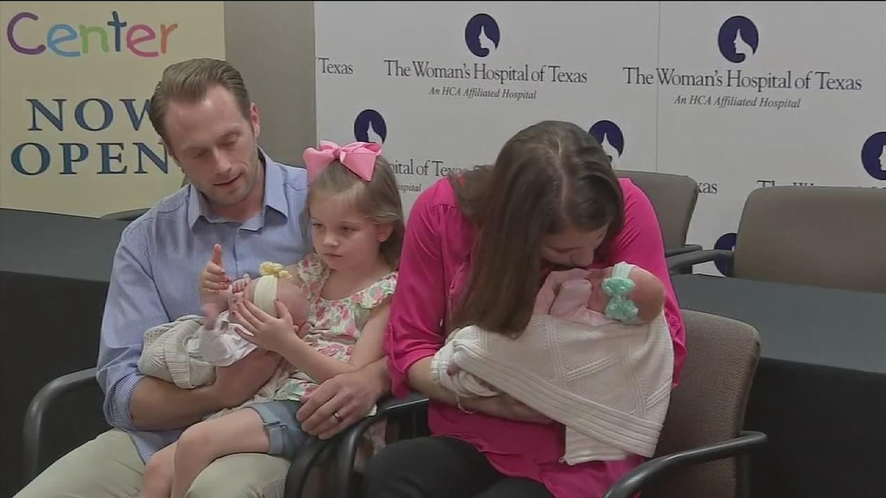 Sweet homecoming for quintuplets