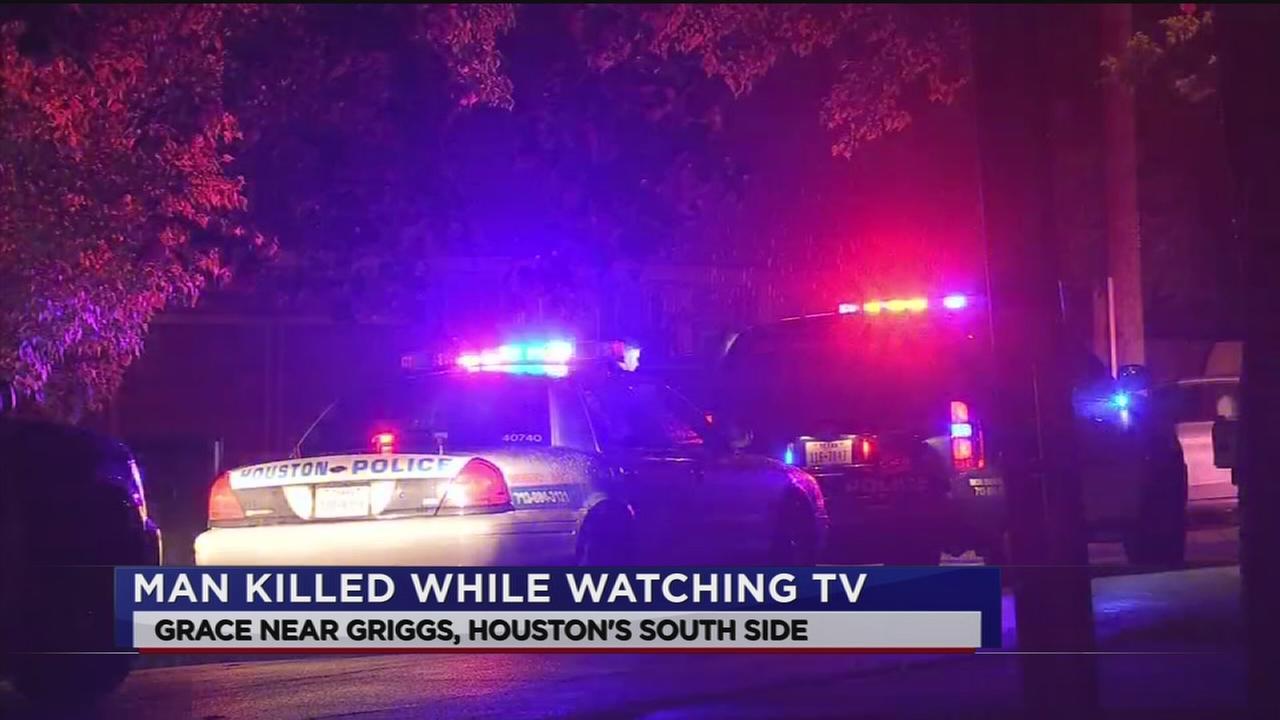 Man killed while watching TV