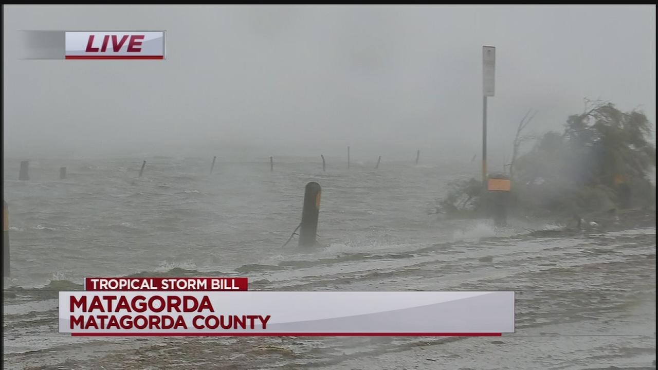 Tropical Storm Bill makes splash in Matagorda