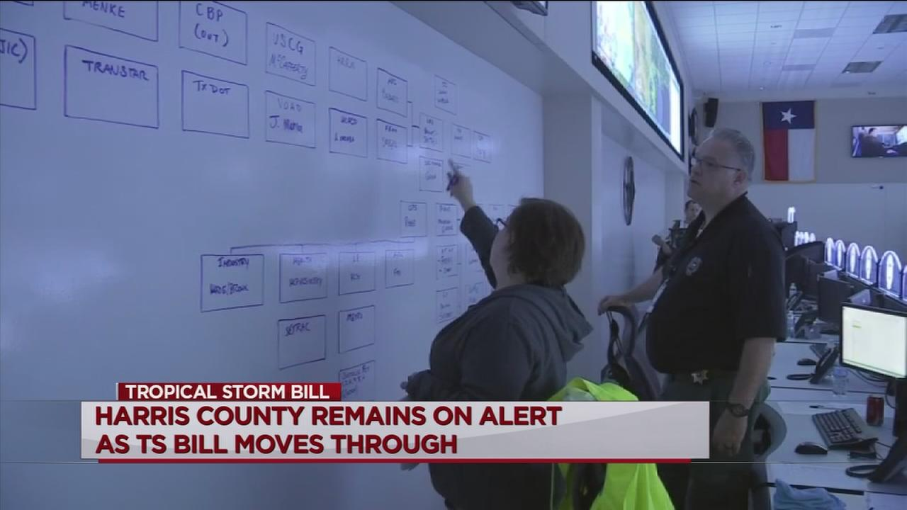 County, city leaders still on alert as Bill moves through