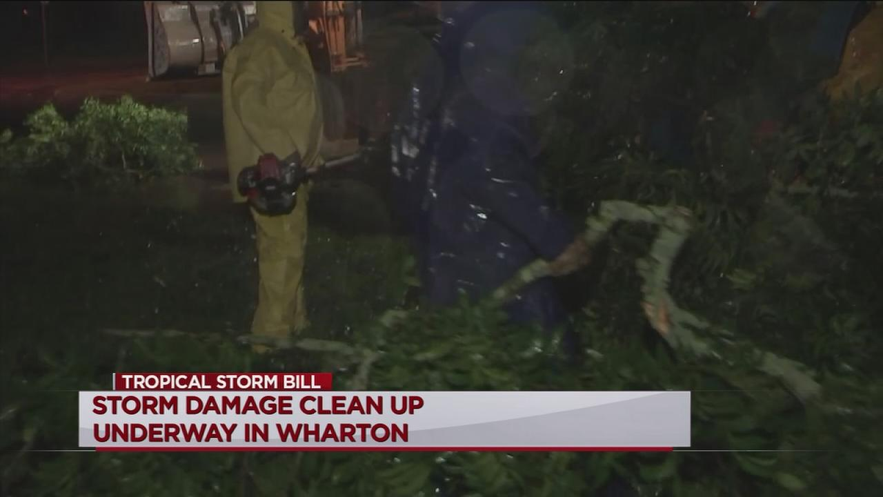 Wharton County pounded by TS Bills wind, rain