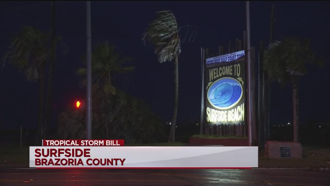 TS Bill leaves damabe in Surfside