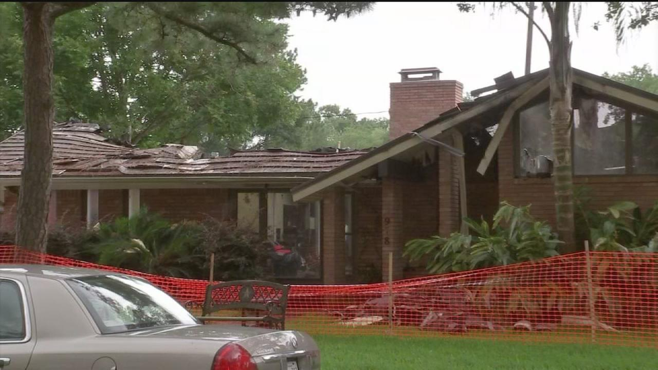 Concerns rise after 2nd home recently flooded catches fire