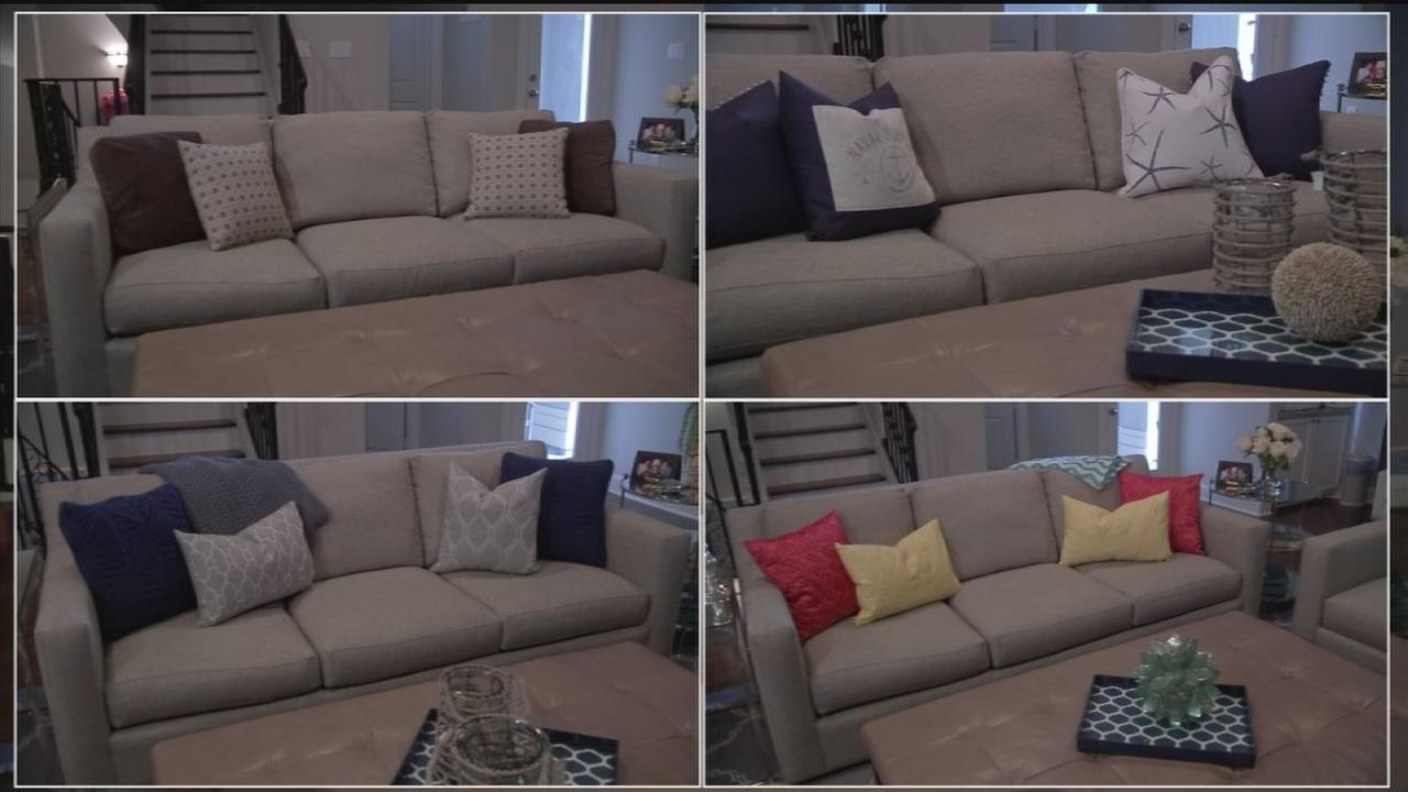 4 different ways to style the same couch