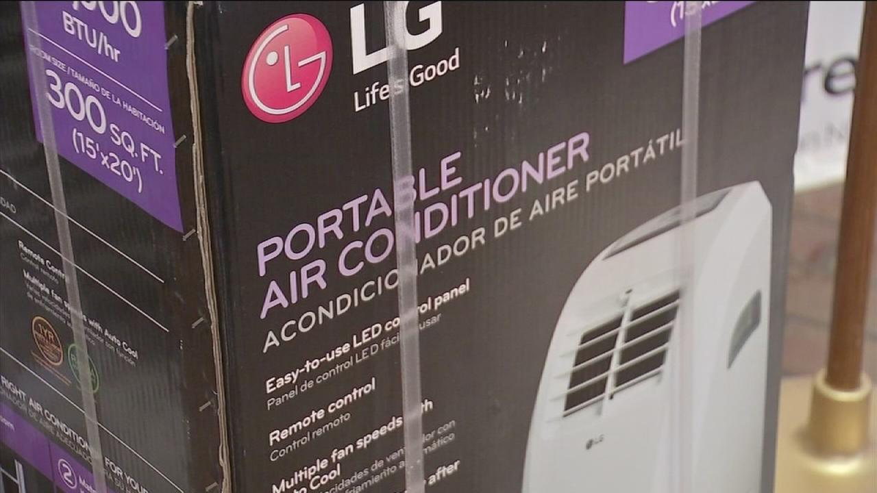 Portable A/C units given out