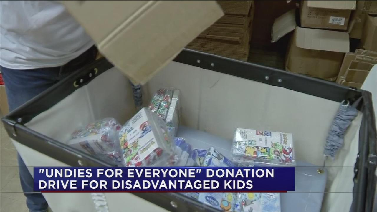 Undies for everyone donation drive for disadvantaged kids