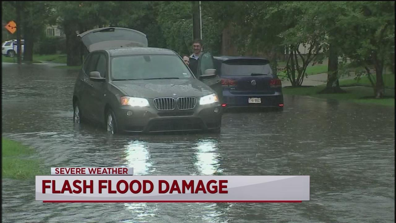 Strong storms cause flooding across Houston
