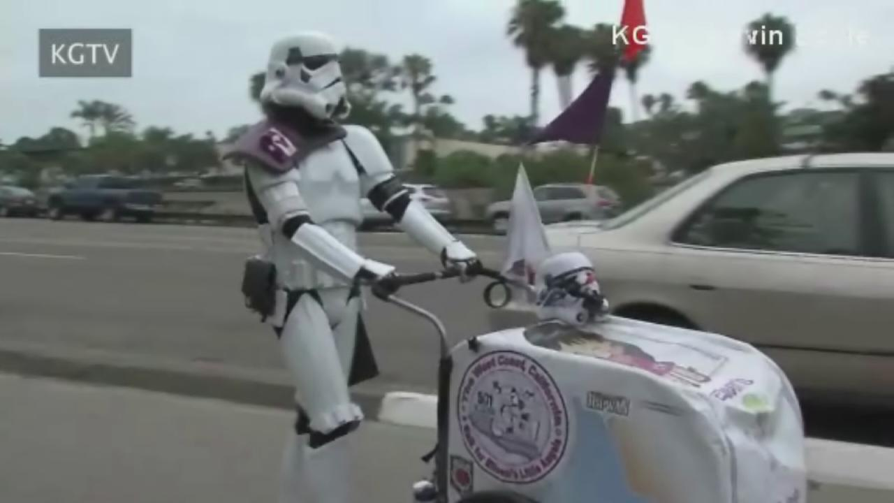 Man walks 645 miles dressed as stormtrooper