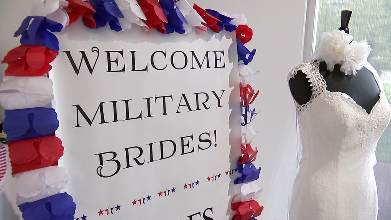 Some military brides get free wedding dresses for Free wedding dresses for military brides