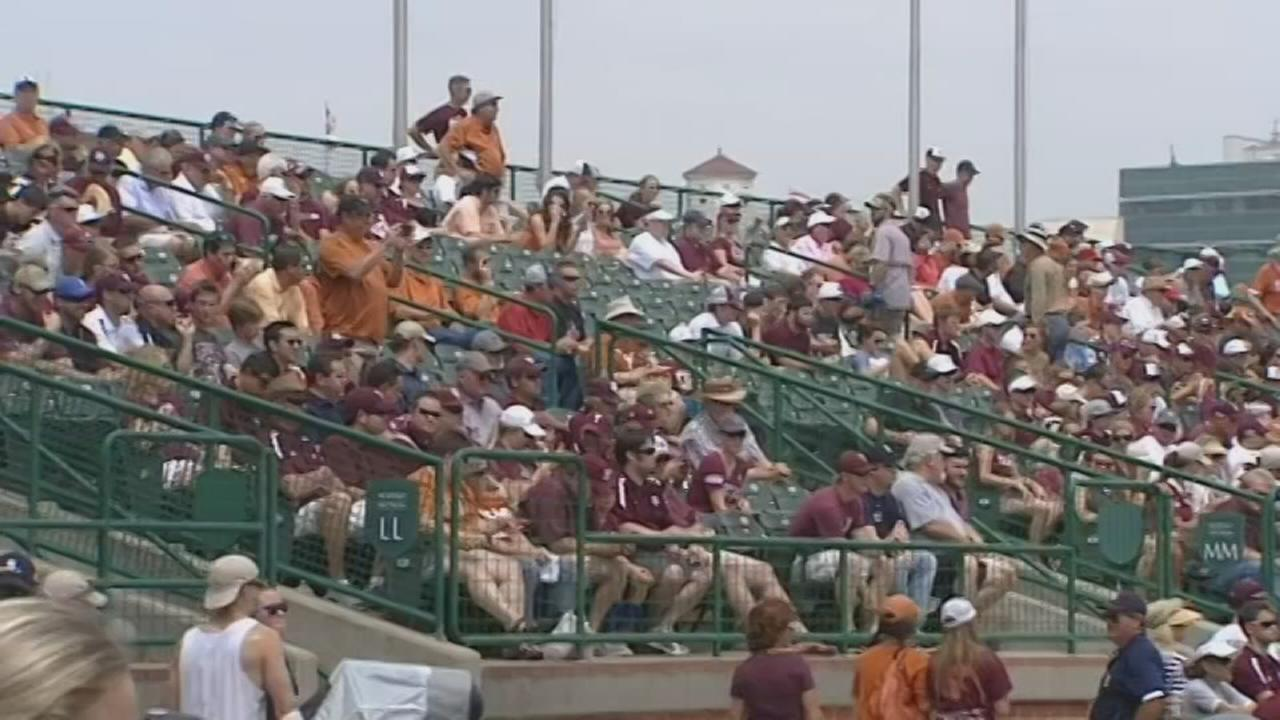 Baseball fans talk about Horns-Aggies matchup