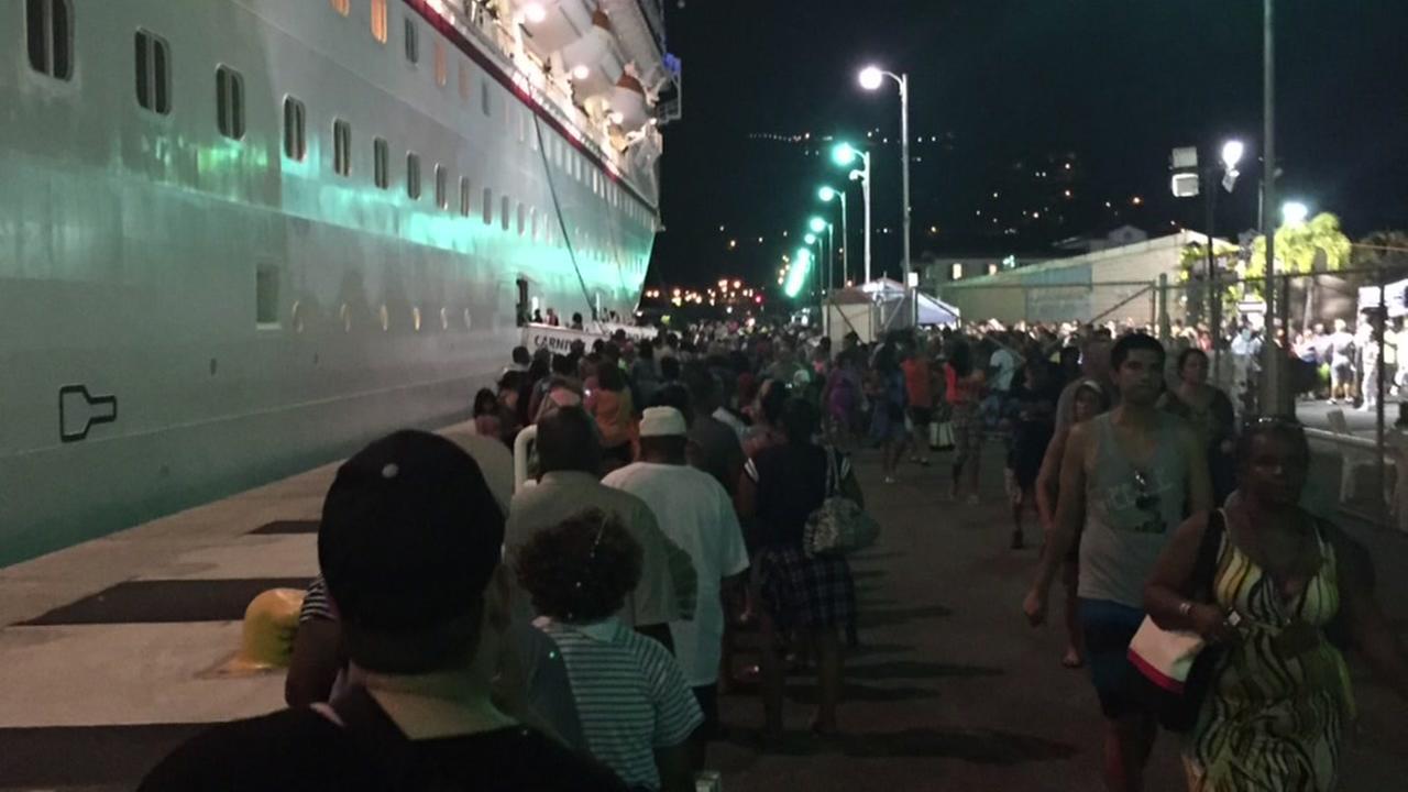 Engine Fire Stalls Carnival Cruise Ship In Saint Thomas Abc13 Com