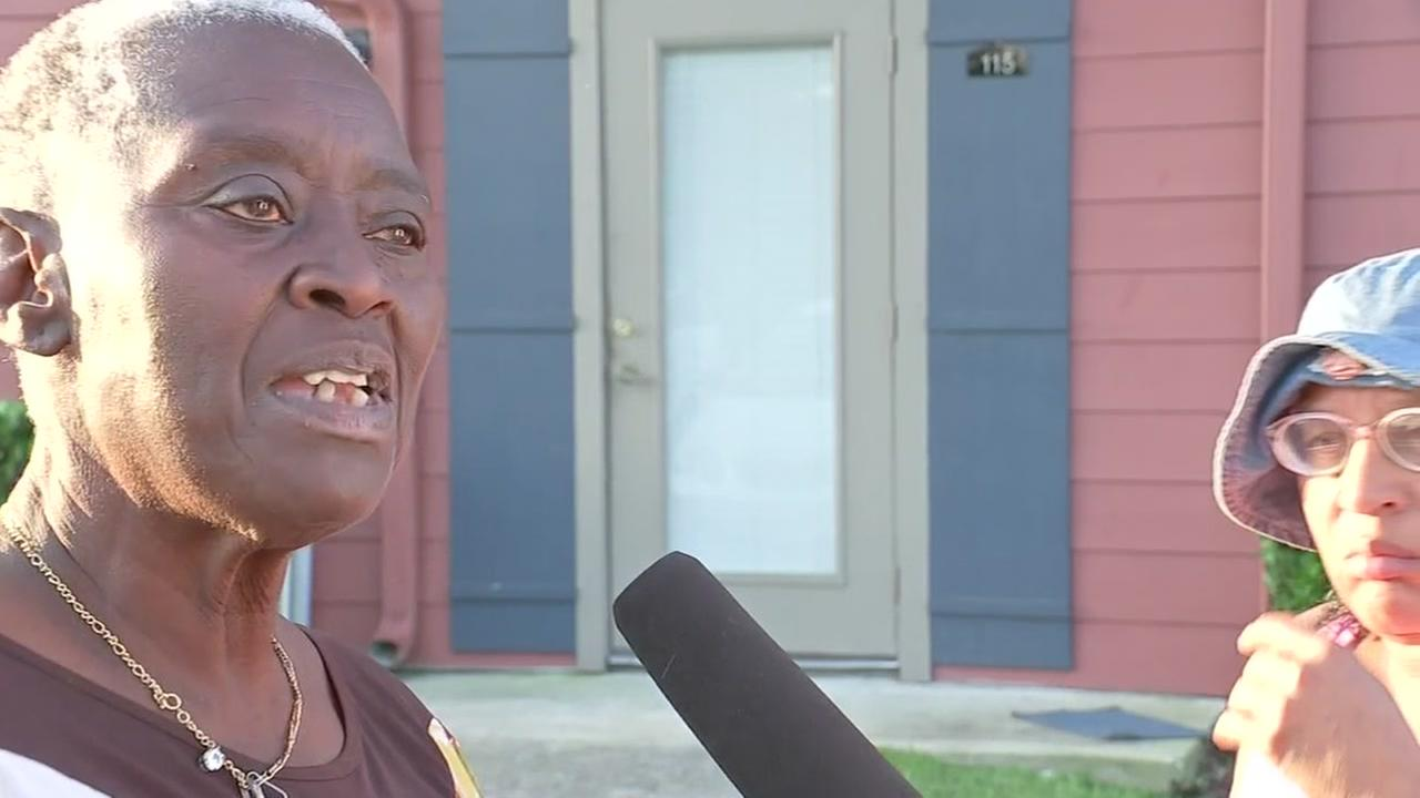 Elderly woman evicted in NW Houston