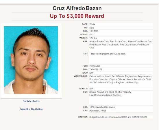 "<div class=""meta image-caption""><div class=""origin-logo origin-image ktrk""><span>KTRK</span></div><span class=""caption-text"">Cruz Alfredo Bazan (Texas Department of Public Safety)</span></div>"
