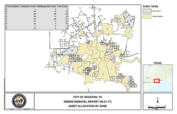 First look at maps of the debris removal progress in Houston