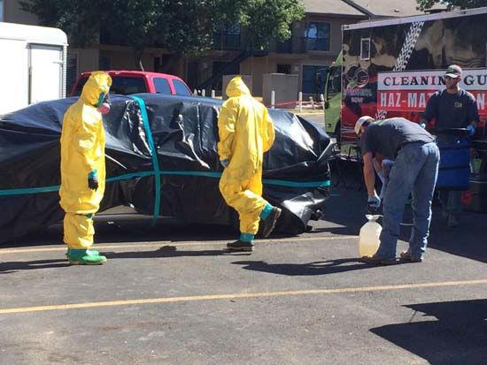 Hazmat Cleans Dallas Apartment Contaminated By Ebola