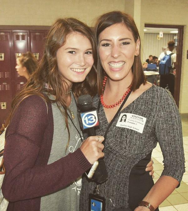 "<div class=""meta image-caption""><div class=""origin-logo origin-image none""><span>none</span></div><span class=""caption-text"">BOBCAT FIGHT NEVER DIES! Courtney FIscher meets a young reporter hopeful from Cy-Fair High School after coming to ABC13.</span></div>"