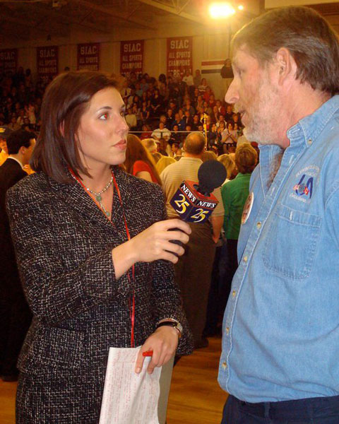 "<div class=""meta image-caption""><div class=""origin-logo origin-image none""><span>none</span></div><span class=""caption-text"">Courtney Fischer, at her first reporting job ever, covering the 2007 elections in Evansville, Indiana.</span></div>"