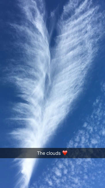"<div class=""meta image-caption""><div class=""origin-logo origin-image none""><span>none</span></div><span class=""caption-text"">Several of you sent us photos of this interesting cloud formation, some saying it looked like a heart, others saying feathers.  Send your photos to us a news@abc13.com (Photo/iWitness Reports)</span></div>"