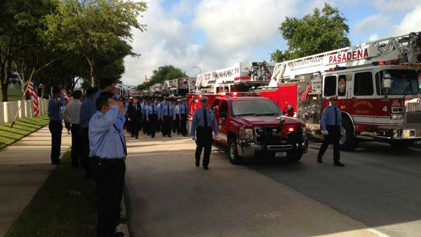<div class='meta'><div class='origin-logo' data-origin='none'></div><span class='caption-text' data-credit='KTRK Photo'>Four firefighters lost their lives battling a massive motel fire in SW Houston on May 31, 2013.</span></div>