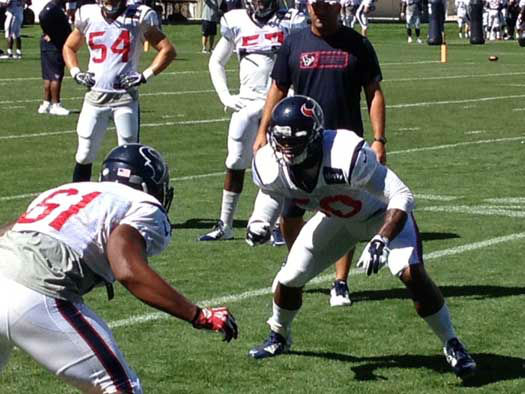 Photos from the Texans practices with the world champion Broncos