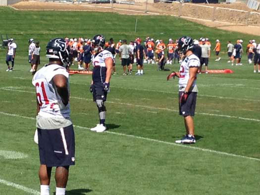 The Texans are in Denver to practice with the defending AFC champs; these are photos from Thursday&#39;s practice <span class=meta>(Photo&#47;ABC-13)</span>