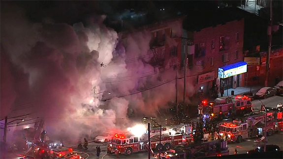 Fire crews battling second blaze in the Bronx in a week