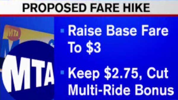 MTA board votes to keep base fare at $2.75, reduce bonuses