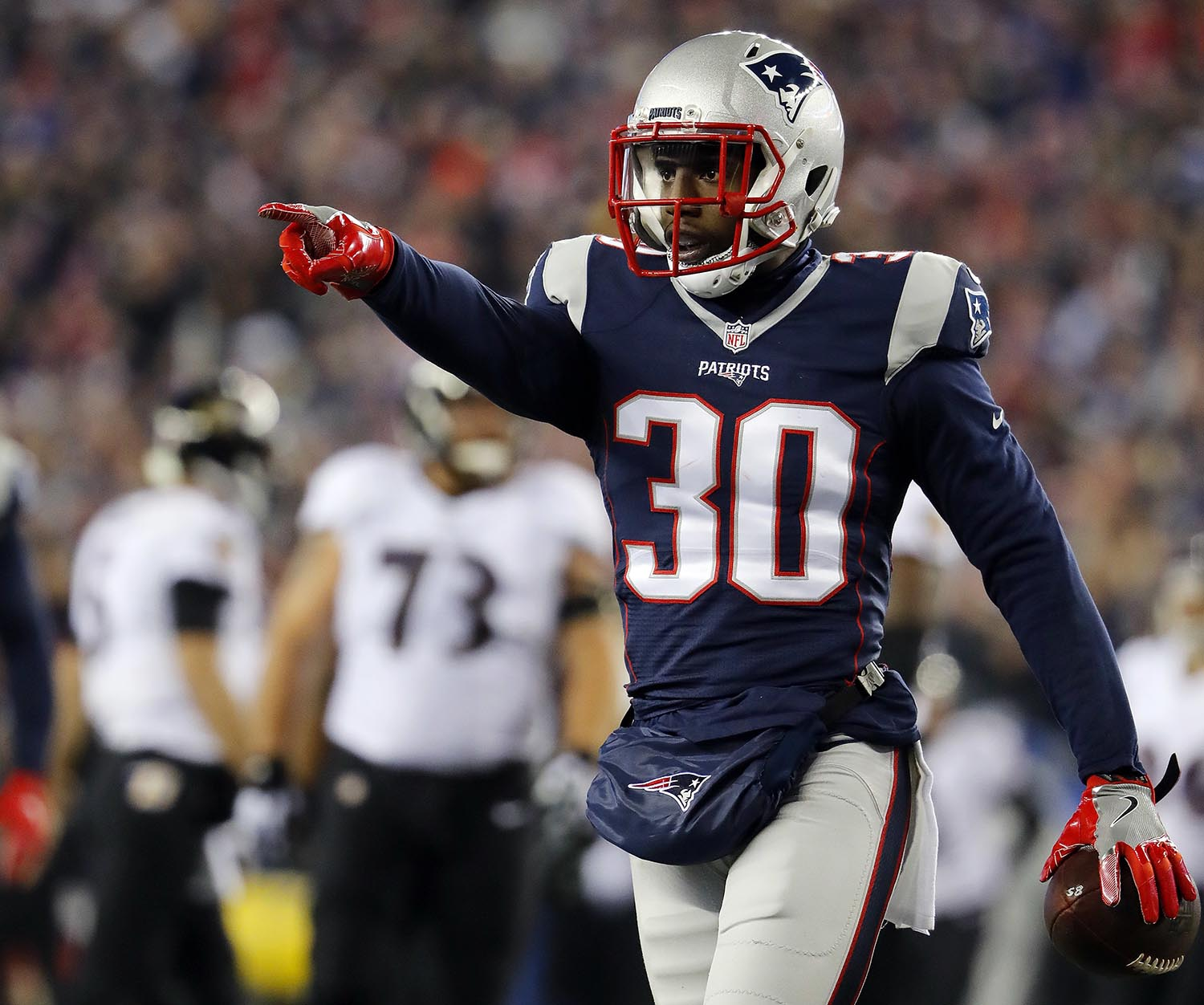 """<div class=""""meta image-caption""""><div class=""""origin-logo origin-image ap""""><span>AP</span></div><span class=""""caption-text"""">New England Patriots' defensive back Duron Harmon attended Rutgers University in New Brunswick, NJ. (Winslow Townson/AP Images for Panini)</span></div>"""