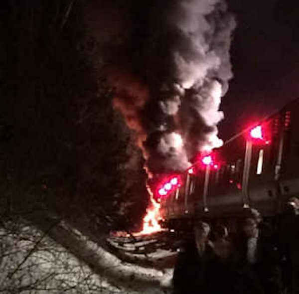 "<div class=""meta image-caption""><div class=""origin-logo origin-image none""><span>none</span></div><span class=""caption-text"">A Metro-North train slammed into a vehicle on the tracks Tuesday night in Valhalla. (Photo courtesy @anabolicapple)</span></div>"