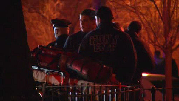 <div class='meta'><div class='origin-logo' data-origin='none'></div><span class='caption-text' data-credit='WABC Photo/ WABC'>Two NYPD officers were shot and injured at the Melrose Houses in the Bronx on Thursday night.</span></div>