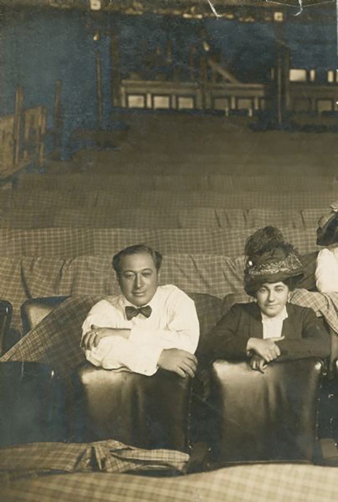 <div class='meta'><div class='origin-logo' data-origin='none'></div><span class='caption-text' data-credit='Courtesy: Hudson Theatre'>Henry and Renee Harris at the Hudson Theatre</span></div>