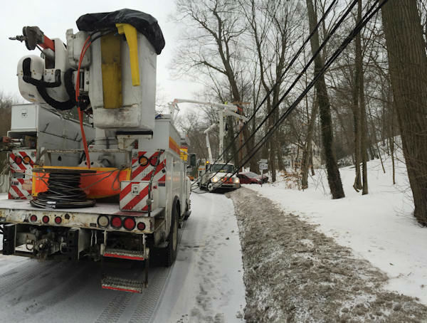 """<div class=""""meta image-caption""""><div class=""""origin-logo origin-image none""""><span>none</span></div><span class=""""caption-text"""">An accident took out a power pole on Northern Boulevard Cold Spring Harbor, Long Island.</span></div>"""