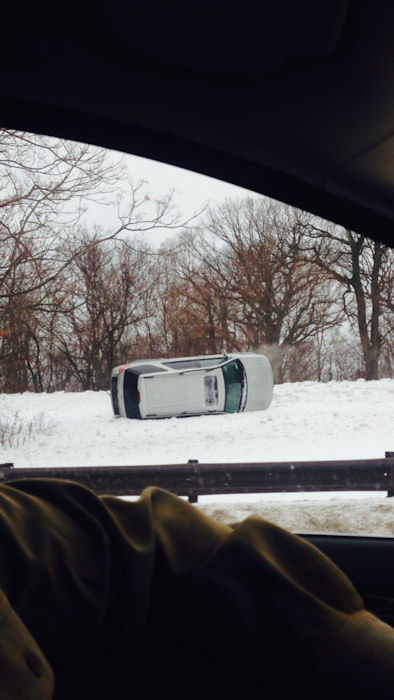 """<div class=""""meta image-caption""""><div class=""""origin-logo origin-image none""""><span>none</span></div><span class=""""caption-text"""">One of several accident on Palisades Interstate Parkway due to icy conditions</span></div>"""