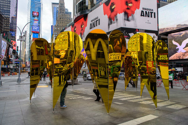 <div class='meta'><div class='origin-logo' data-origin='WABC'></div><span class='caption-text' data-credit='WABC Photo / Mike Waterhouse'>A romantic, mirrored art exhibit called 'Heart of Hearts' is on display to celebrate Valentine's Day in Times Square.</span></div>