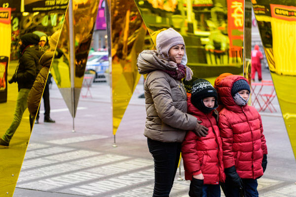 """<div class=""""meta image-caption""""><div class=""""origin-logo origin-image wabc""""><span>WABC</span></div><span class=""""caption-text"""">A romantic, mirrored art exhibit called 'Heart of Hearts' is on display to celebrate Valentine's Day in Times Square. (WABC Photo / Mike Waterhouse)</span></div>"""