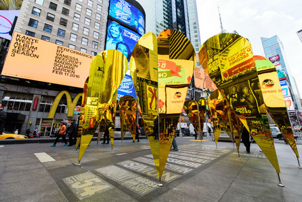 """<div class=""""meta image-caption""""><div class=""""origin-logo origin-image none""""><span>none</span></div><span class=""""caption-text"""">A romantic, mirrored art exhibit called 'Heart of Hearts' is on display to celebrate Valentine's Day in Times Square. (WABC Photo / Mike Waterhouse)</span></div>"""