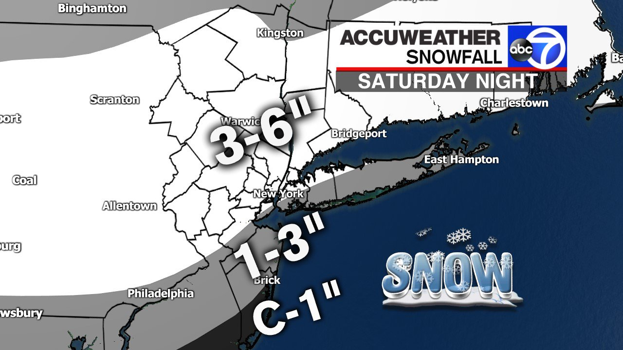 Six inches of snow forecasted Saturday night