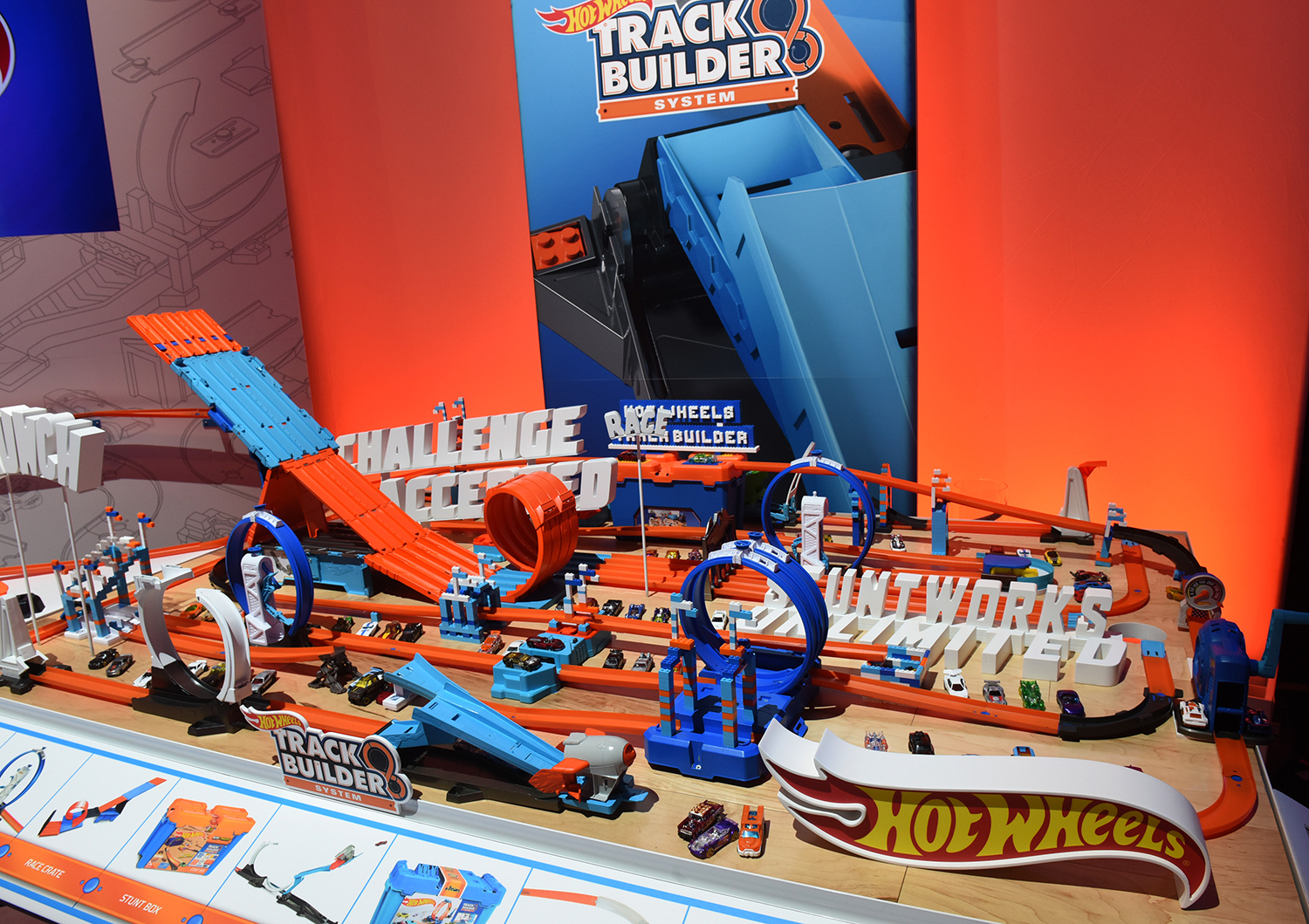 <div class='meta'><div class='origin-logo' data-origin='AP'></div><span class='caption-text' data-credit='Diane Bondareff/AP Images for Mattel'>The Hot Wheels Track Builder playsets line includes track, boosters and loops that can be combined in multiple ways.</span></div>