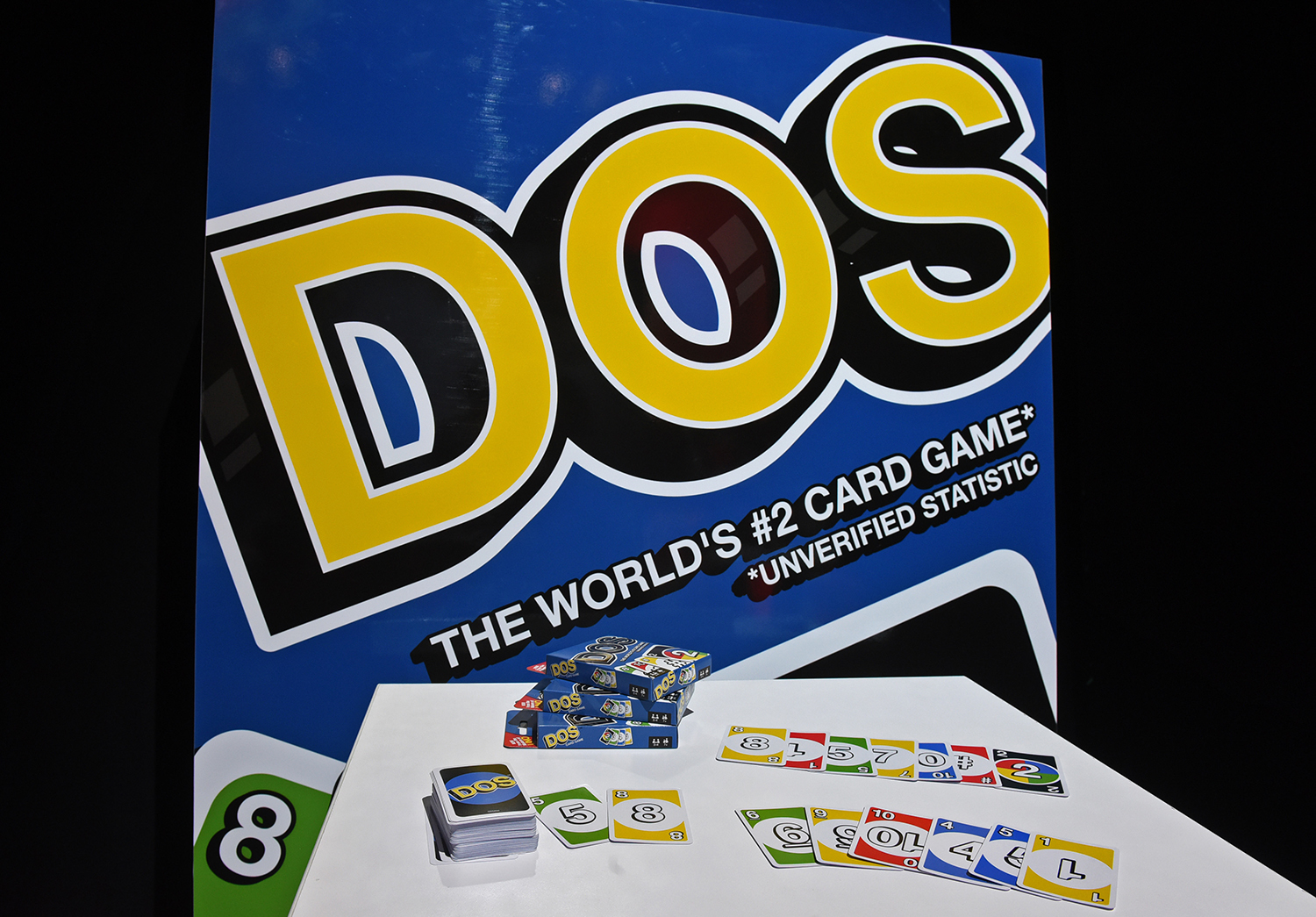 <div class='meta'><div class='origin-logo' data-origin='AP'></div><span class='caption-text' data-credit='Diane Bondareff/AP Images for Mattel'>In the new game Dos, inspired by the number one card game UNO, players must yell &#34;Dos&#34; when they are down to two cards to win.</span></div>