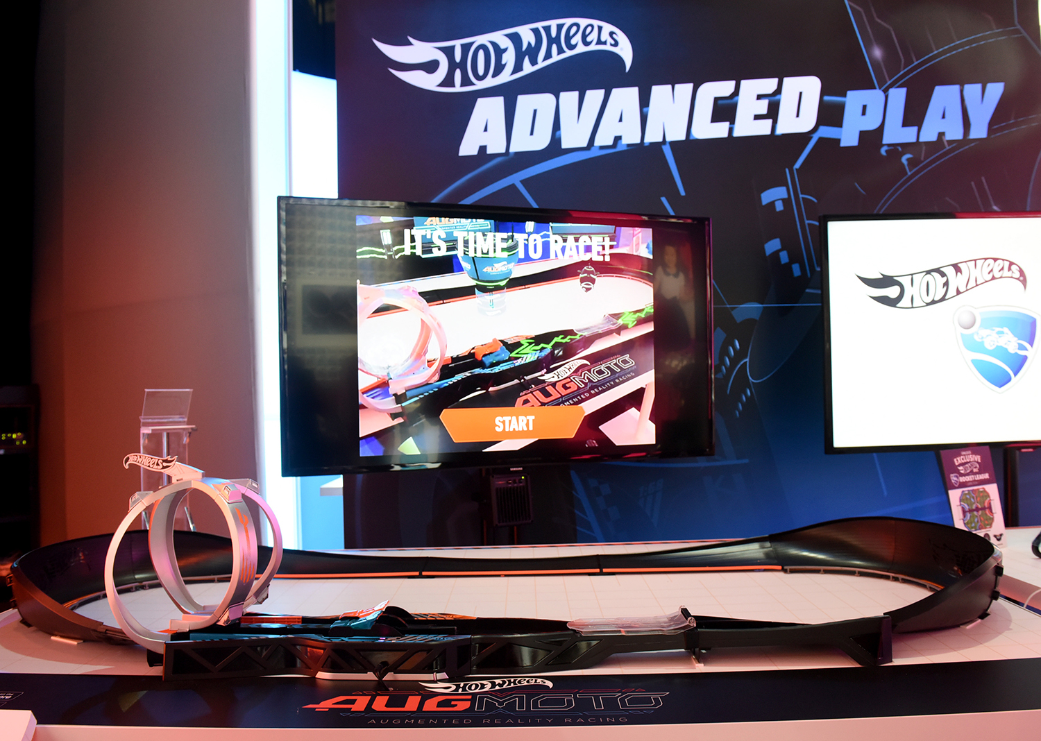 <div class='meta'><div class='origin-logo' data-origin='AP'></div><span class='caption-text' data-credit='Diane Bondareff/AP Images for Mattel'>The Hot Wheels Augmoto Augmented Reality Racing, track set combines electric cars on a unique track and AR technology.</span></div>