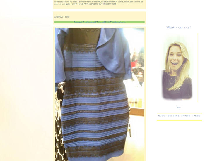 Blue dress color test